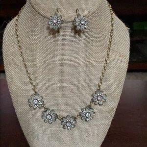 Chloe & Isabel gold necklace & earrings